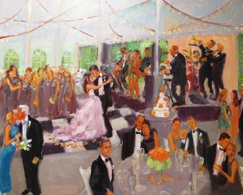 Wedding Painting at White Hall, Louisville, Kentucky