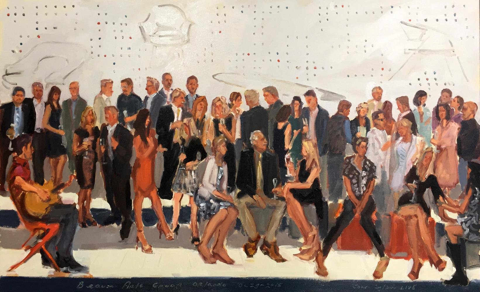 Grand Opening, Beaux Arts Group Orlando Showroom, painted live