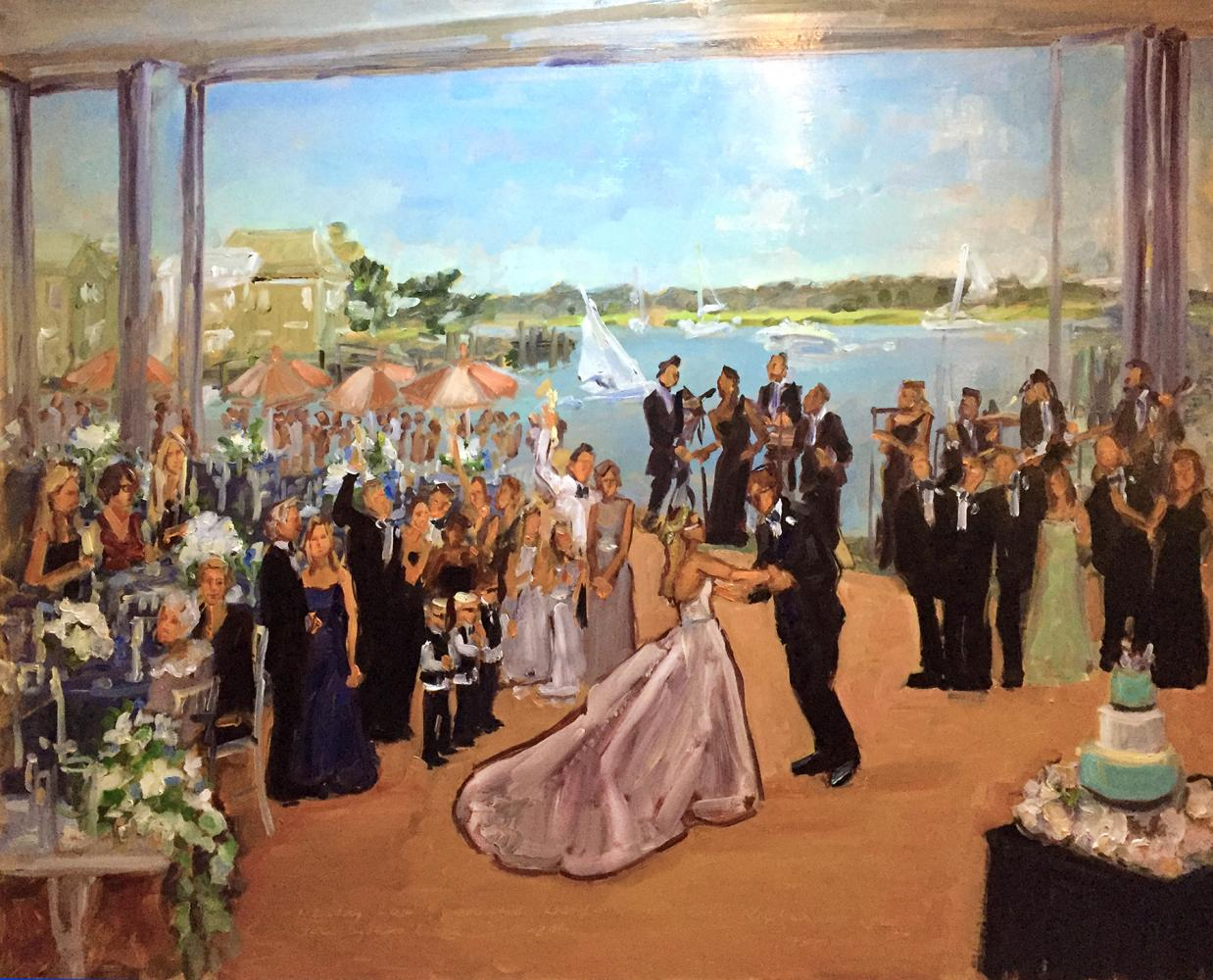 The Reeds Stone Harbor Live Event Wedding Painting
