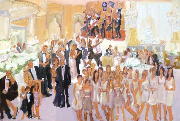Four Seasons Wedding live event painting