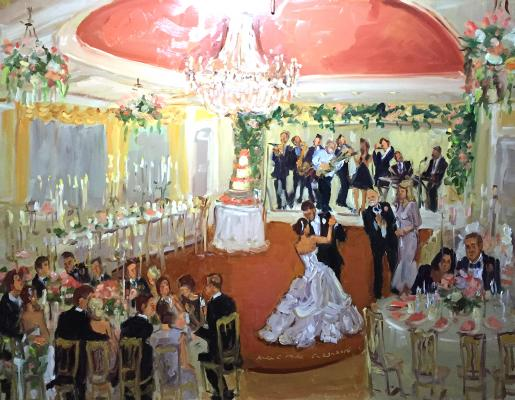 Live event painting at DC wedding, Columbia CC