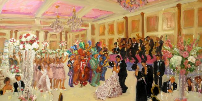 Merion Wedding live event painting