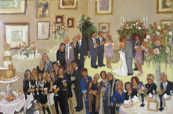 Live artist wedding pa Monterre Vineyards painting