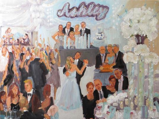live-event artist:   painting at a Bat Mitzvah in NJ