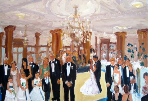 Finley Catering Wedding live event painting