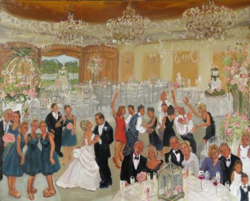 Colonial Inn Wedding painted live