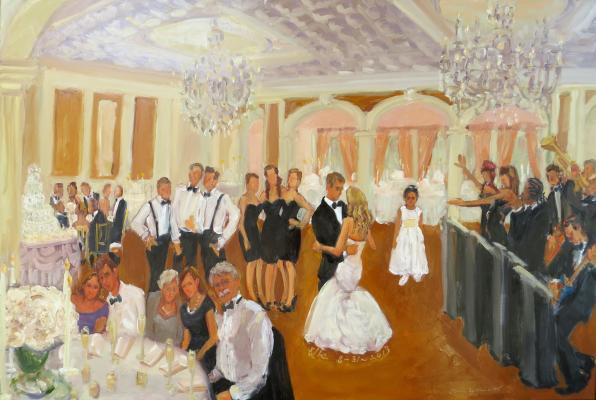 Saucon Valley CC wedding painted live
